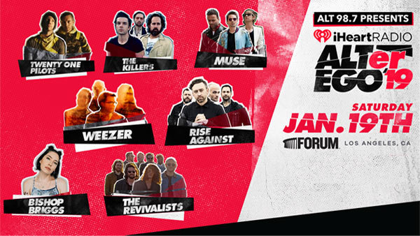 None - ALT 98.7 Presents iHeartRadio ALTer Ego 2019 at The Forum (1/19/19) (Pair)