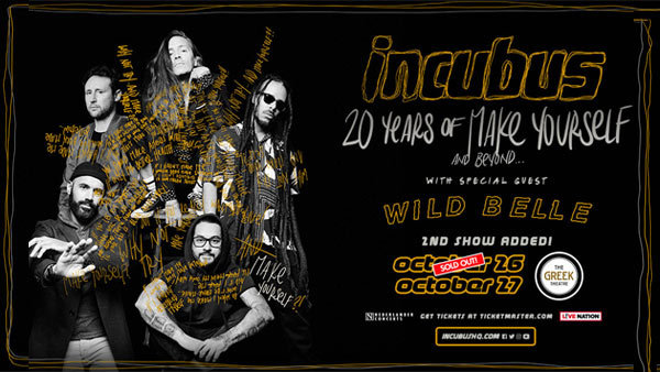 None -   Incubus at Greek Theatre (10/27)