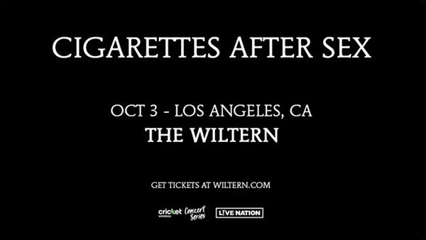 None - Cigarettes After Sex at The Wiltern (10/3)