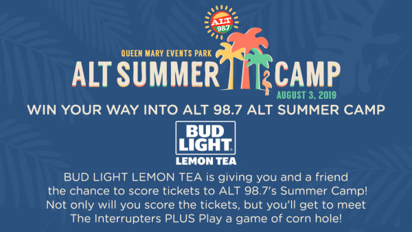 None - Enter for your chance to win 2 tickets to Alt 98.7 Summer Camp AND the opportunity to play corn hole with The Interrupters!