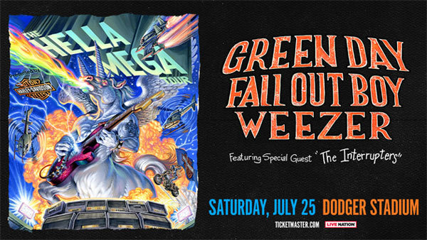 None - HELLA MEGA TOUR Presented by Harley feat. Green Day, Fall Out Boy, Weezer at Dodger Stadium (7/25/20) (Online Contest #2)