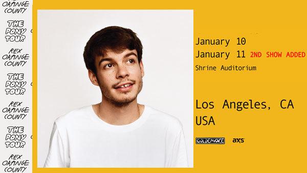 None - Rex Orange County at Shrine Auditorium (1/11/20) (Online Contest #2)