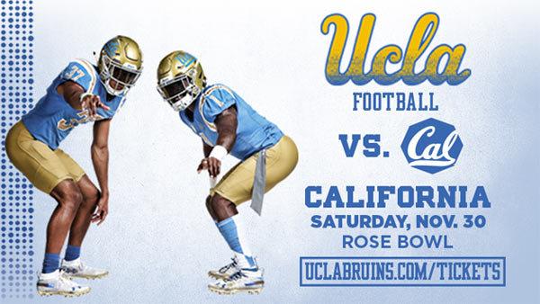 None - UCLA Bruins vs. California Golden Bears Football (11/30) (Pair)