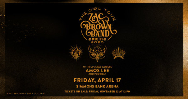 None - Zac Brown Band Concert Tickets with 105.1 The Wolf