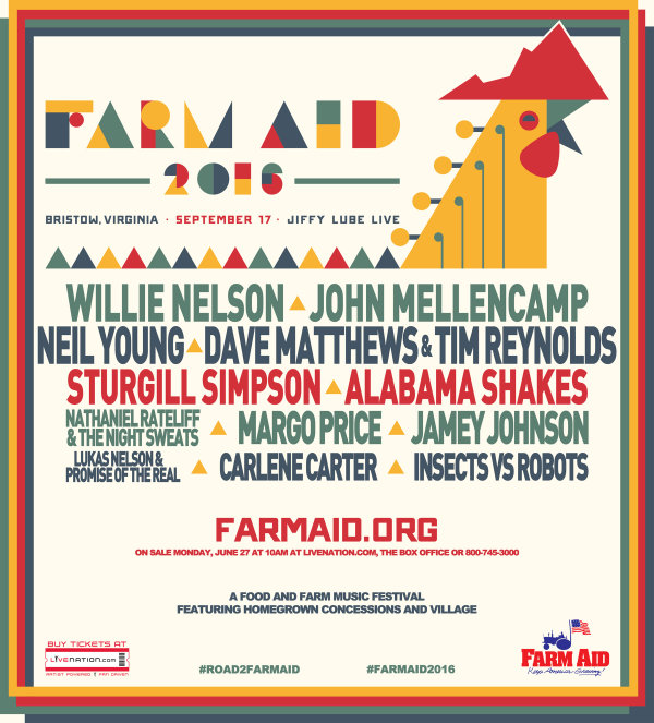 Image result for farm aid 2016