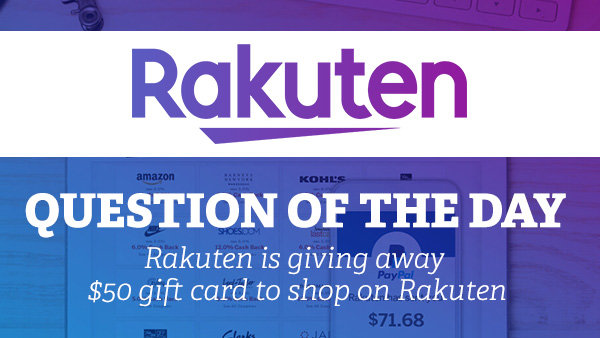 None -  Enter To Win $50 Gift Card from Rakuten