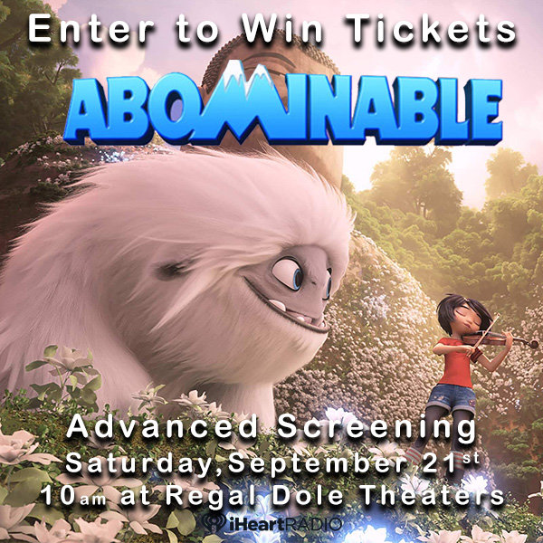 None - Enter to win tix to Abominable Advanced Screening