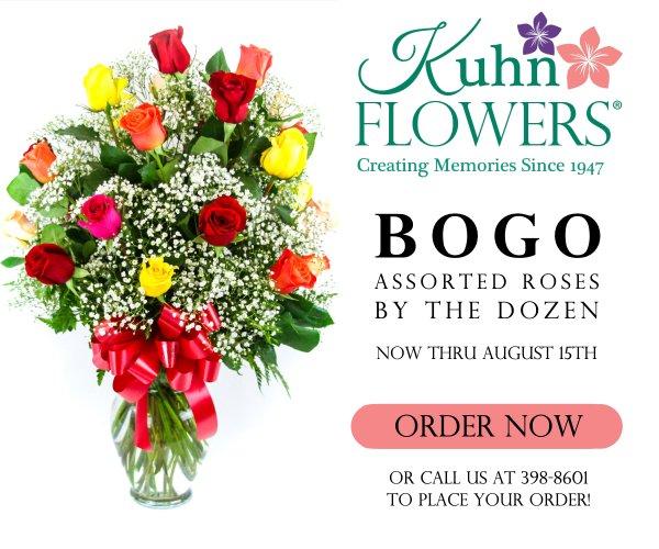 None - Kuhn Flowers: 2 Dozen Assorted Roses BOGO Special!