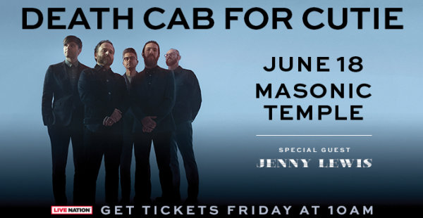 None - Win tickets to see Death Cab For Cutie
