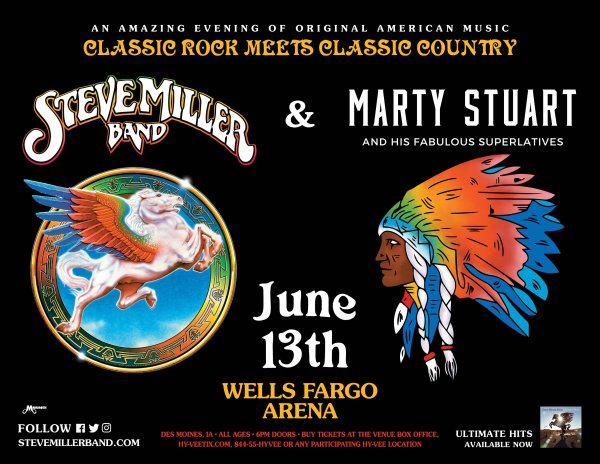 Tell Us When You Heard a Steve Miller Band Song on THE BUS to Win!!