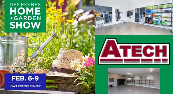 Tell Us Why You Want To Win a Garage Makeover from A Tech at The Des Moines Home + Garden Show!