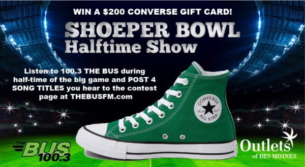 SHOEPER BOWL Halftime Show - Win a $200 Converse Gift Card!