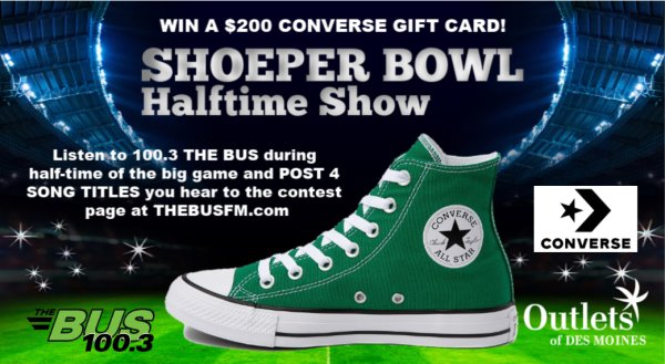 None - SHOEPER BOWL Halftime Show - Win a $200 Converse Gift Card!