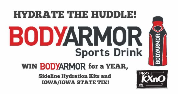 None - Win Body Armor for a full year by showing us how you Hydrate your Huddle!
