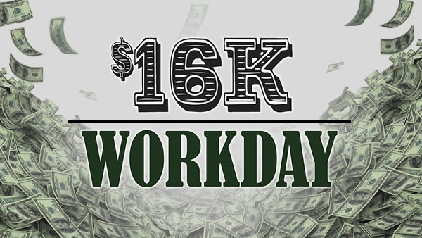 None - It's The 16K Workday From 95.5 The Bull!
