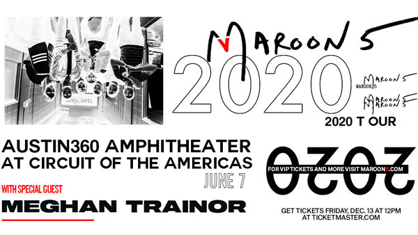 None - Win tickets to see Maroon 5 at Austin360 Amphitheater!