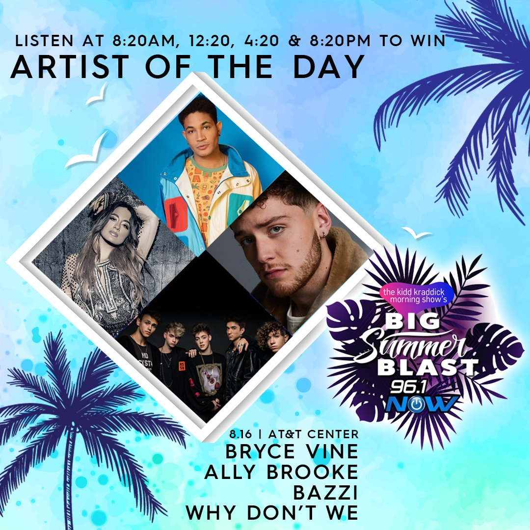 Kidd Kraddick Morning Show's Big Summer Blast Artist of The