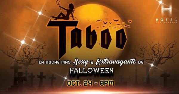 Gana Boletos a TABOO: La Noche Más Sexy & Extravagante de Halloween