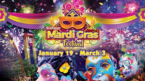 None - Gana 4 Boletos a Six Flags Fiesta Texas: Mardi Gras Celebration!