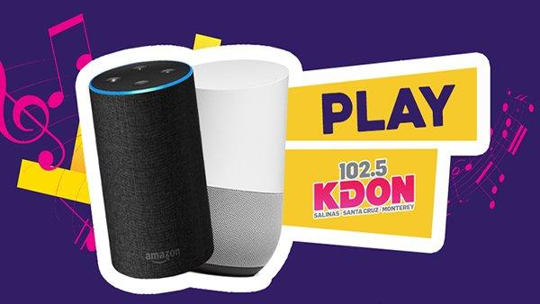 None -  Listen to 102.5 KDON on Amazon Alexa and Google Home