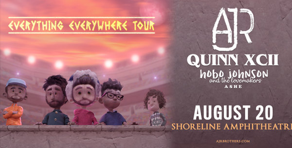 image for AJR and Quinn XCII at Shoreline Amphitheatre!