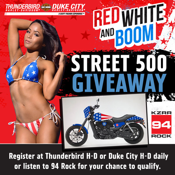 None - Win A Harley-Davidson Street 500 from Thunderbird H-D, Duke City H-D, and 94 Rock!