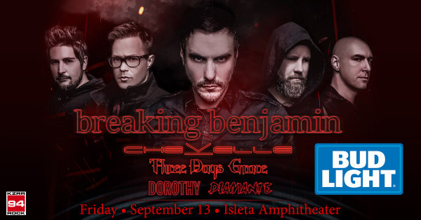 None - Win Tickets To See Breaking Benjamin On The Bud Light Party Deck