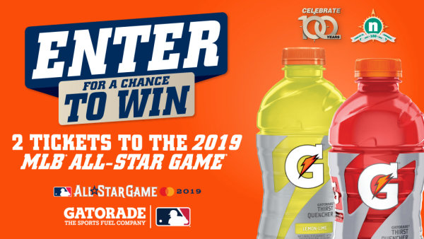 None - MLB All Star Game Ticket Giveaway from True North & Gatorade