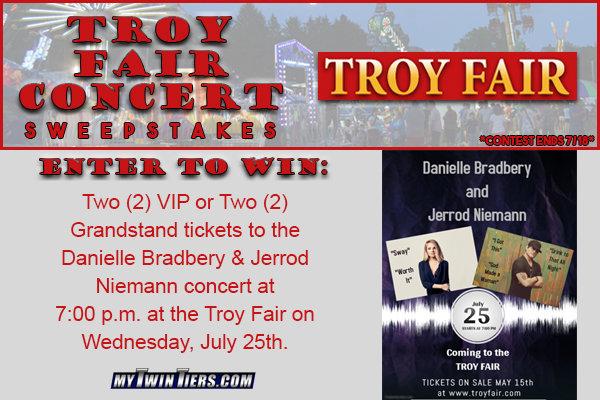 Troy Fair Concert Sweepstakes