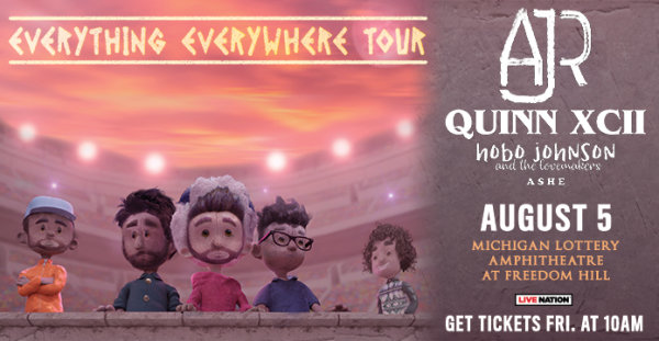 image for Win a pair of tickets to see AJR & Quinn XCII!