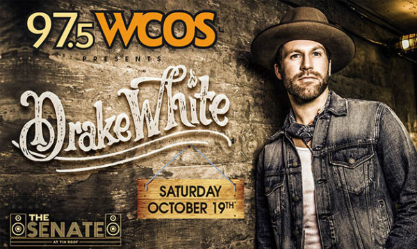 None - 97.5 WCOS presents Drake White at the Senate