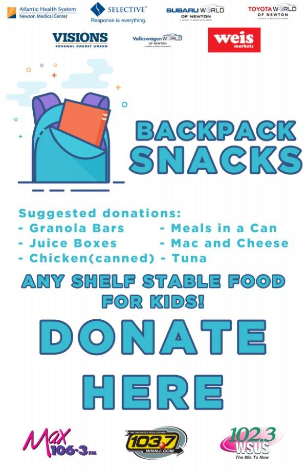 image for Backpack Snacks for Kids