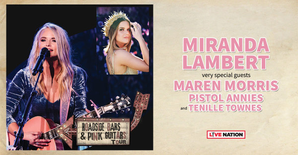 None - See Miranda Lambert at the Cajundome 10/3!