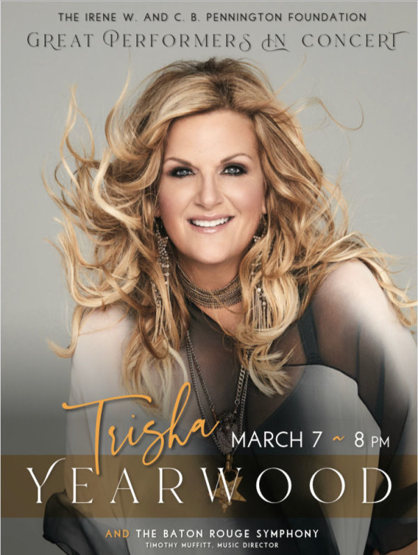image for SEE TRISHA YEARWOOD AND THE BATON ROUGE SYMPHONY LIVE IN CONCERT