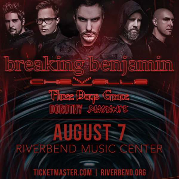 Win a pair of tickets to see Breaking Benjamin at Riverbend Music Center!