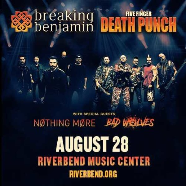 Win a pair of tickets to see Breaking Benjamin & Five Finger Death Punch at Riverbend Music Center!