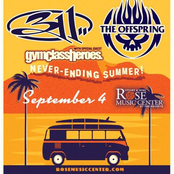 Win a pair of tickets to see 311 & The Offspring at Rose Music Center at The Heights!