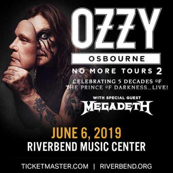Win a pair of tickets to see Ozzy Osbourne at Riverbend Music Center!