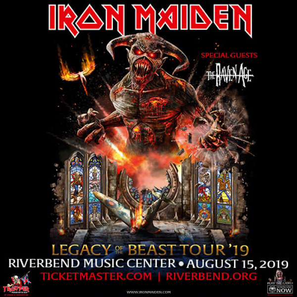 None - Win a pair of tickets to see Iron Maiden at Riverbend Music Center!
