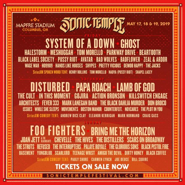 Win a pair of weekend passes to Sonic Temple 2019!