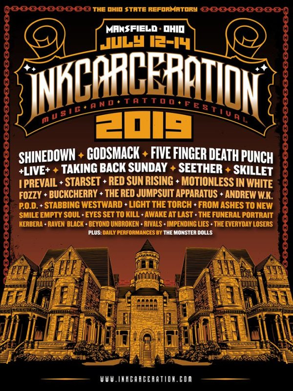 None - Win a pair of weekend passes to the 2019 Inkcarceration Festival!