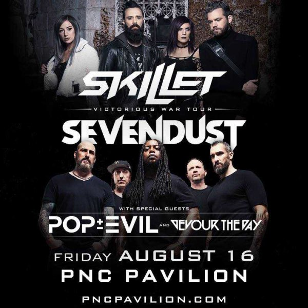 None - Win a pair of tickets to see Skillet and Sevendust at PNC Pavilion!