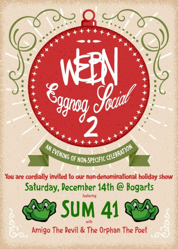 None - Win Tickets to WEBN's Eggnog Social 2 with Sum 41!