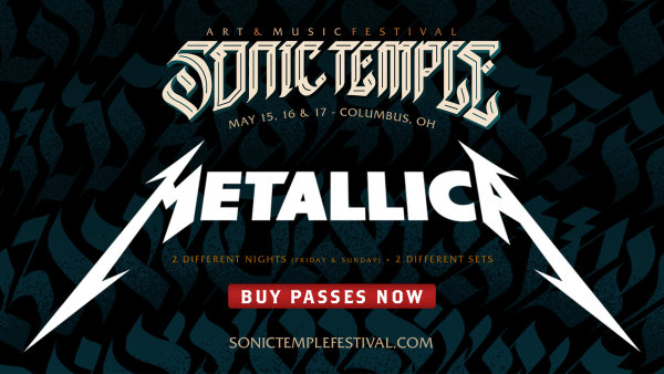 None - Win tickets to Sonic Temple 2020 featuring Metallica!