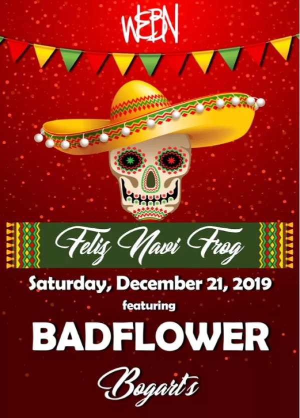 None - Win a pair of tickets to Feliz NaviFrog presented by Becks Auto Group ft. Badflower!