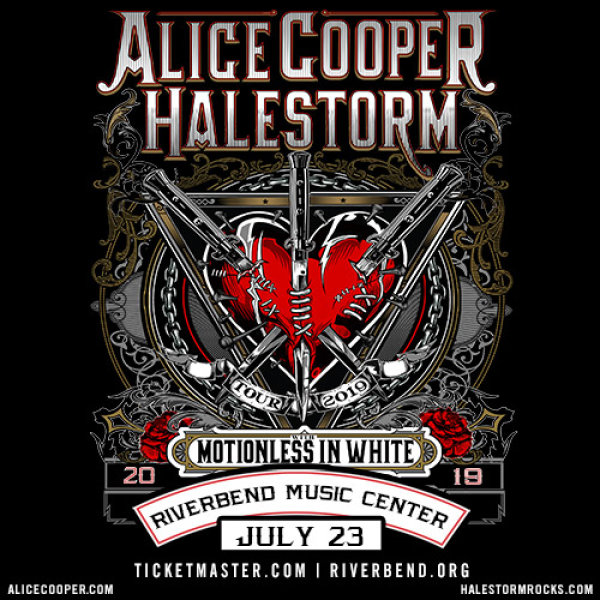 None - Win a pair of tickets to see Alice Cooper & Halestorm at Riverbend Music Center!