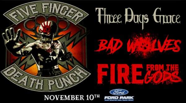 None - Win Tickets To Five Finger Death Punch Nov. 10th @ Ford Park, Beaumont