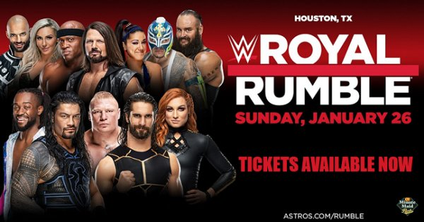 None - Win Tickets To WWE Royal Rumble Jan. 26th @ Minute Maid Park, Houston