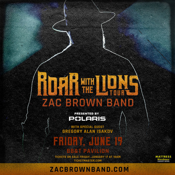 None - ZAC BROWN BAND: Win tickets BEFORE you can buy them!