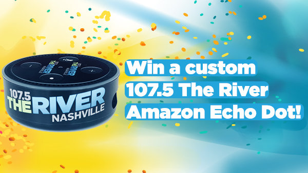 None -  Custom 107.5 The River Amazon Echo Dot